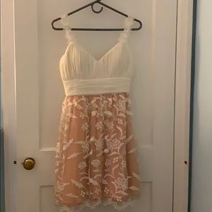 Ivory and dusty rose Dress